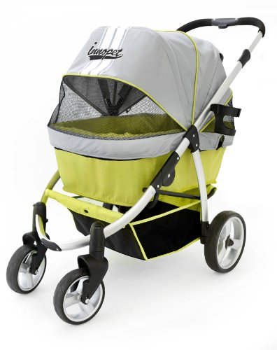 Pet Stroller, IPS-06/Green, dog carrier, trolley, Trailer, Innopet, Buggy Retro. Foldable pet buggy,...