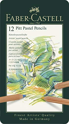 Faber-Castell FC112112 PITT Pastel Pencils Tin Of 12