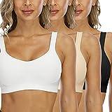 Sujetador Deportivo Confort para Mujer Sin Costuras Sin Aros con Relleno Push Up Bralette Alto Impacto Sujetador De Entrenamiento Bra Básico para Yoga/Fitness/Ejercicio/Diaria/Correr