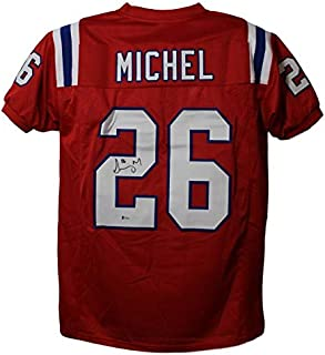 bf04fb72a Sony Michel Autographed Signed New England Patriots Red XL Jersey BAS