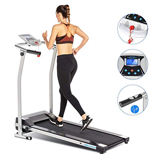 Buy Bargain ANCHEER Upgraded Treadmills for Home, Electric Treadmill with LCD Motorized Running Walk...