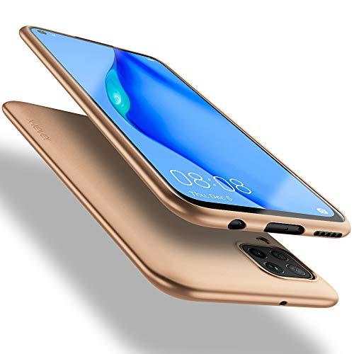 X-level Huawei P40 Lite Hülle, [Guardian Serie] Soft Flex TPU Hülle Superdünn Handyhülle Silikon Bumper Cover Schutz Tasche Schale Schutzhülle für Huawei P40 Lite - Gold