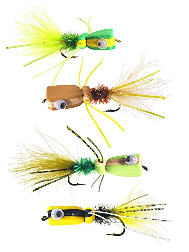 The Fly Crate Bass & Panfish Popper Assortment | 4 Pack