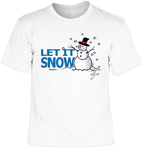 Cooles Herren T-Shirt - Motivshirt: Let ist Snow - Laiberl Shirt Papa Bruder Herrenshirt Geschenk Sprücheshirt Funshirt Sprüche Gr: XXL
