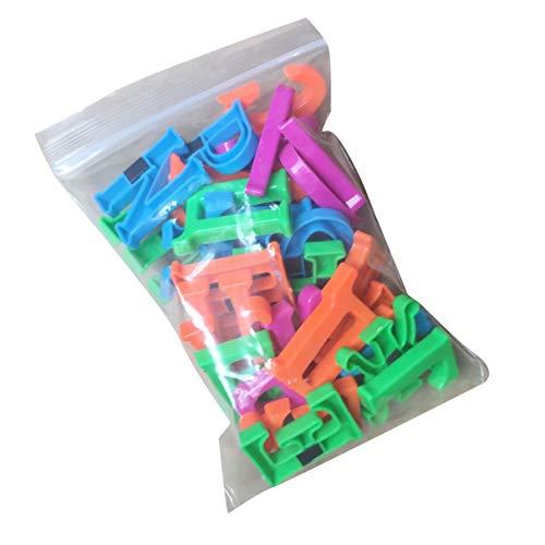 Morninganswer Imán de nevera etiqueta engomada rusa letra mayúscula refrigerador etiqueta engomada decoración de la cocina bebé niños primeros juguetes educativos