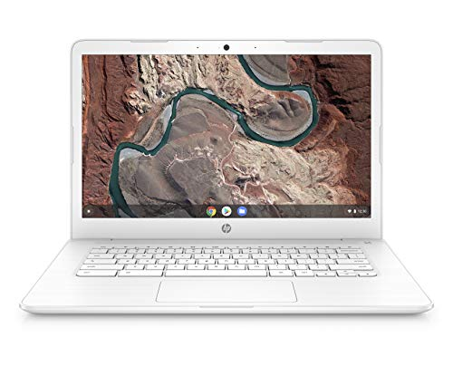 HP Chromebook 14-inch Laptop with 180-Degree Hinge, AMD Dual-Core A4-9120 Processor, 4 GB SDRAM, 32 GB eMMC Storage, Chrome OS (14-db0030nr, Snow White)