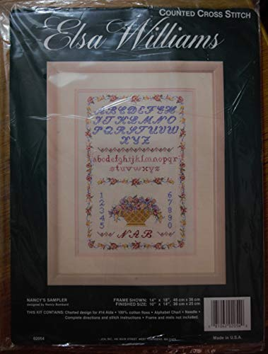 Elsa Williams Counted Cross Stitch Nancy's Sampler