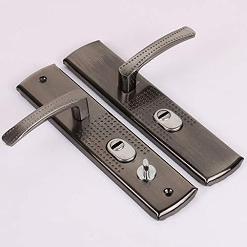 ZLDCTG 1 Práctico Conjunto de la manija de la Puerta Lock Anti-Robo Lock de Seguridad Double Latch para el Dormitorio Muebles de baño Cerradura de Puerta Accesorios