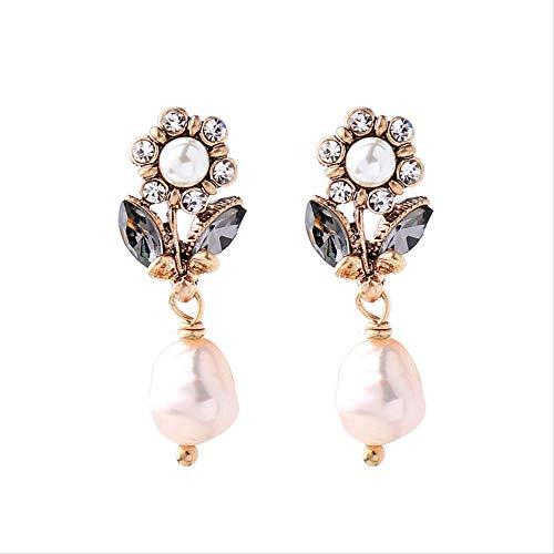 Pearl Glass Crystal Flowers Earrings Charm Fashion Weddings Earrings Jewelry For Women