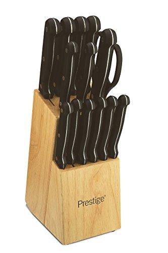 Prestige 15 Piece Knife Block Set, Steel, Light Brown, Set of 15