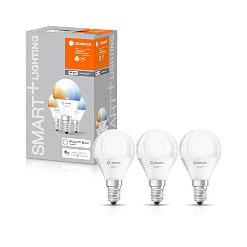 LEDVANCE Ampoule LED | E14 | Blanc dynamique | 2700…6500 K | 5W équivalent à 40W | SMART+ WiFi Mini Bulb Tunable White
