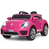 Costzon Ride on Car, Kids Battery Powered Electric Vehicle w/ 2.4G Remote Control, LED Lights, Horn,...