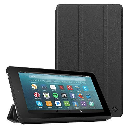 Fintie Hülle kompatibel für Fire 7 Tablet (9.Generation - 2019) - Super Slim Lightweight Schutzhülle Tasche mit Standfunktion und Auto Schlaf/Wach Funktion, Schwarz