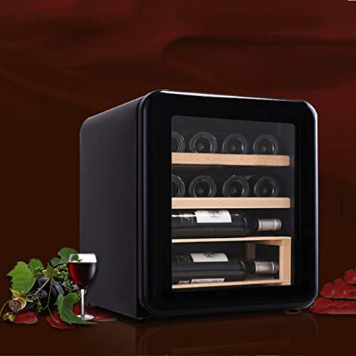 Nuitab 12 flessen wijnkoelkast 42 L wijnkoeler 5-18 °C temperatuurzone, glazen deur 4 Selves drank kelder koelkast energie & ruimtebesparing 47,5 × 44 × 50 cm