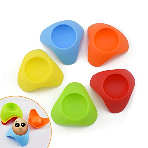 Porte-oeufs Porte-documents Rack Silicone Colorful Design (Pack of 5)