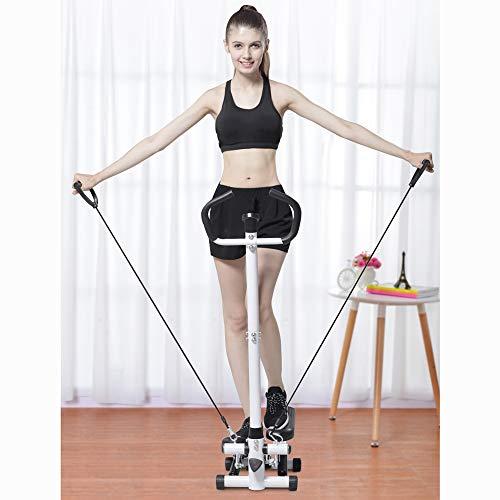 Ejercitador Stepper Cardio Fitness Multifuncional, Máquina De Ejercicios Aeróbicos para Caminar En Casa con Cuerda Elástica, Cinta De Correr Muda Plegable, Capacidad De Carga De 120 Kg