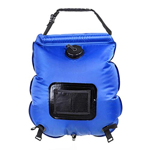 WYJBD 2Pcs Portable Outdoor 20L Solar ower Bags, With Thermometer And Hose, Environmental Protection Leakproof Durable, For Outing Camping Beach Pool oal