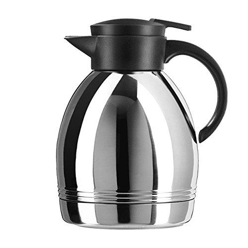 EMSA 6281316 KONSUL Isolierkanne, 1,3 L Fassungsvermögen, Quick Tip Edelstahl schwarz