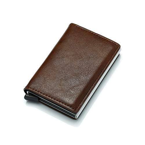 Credit Card Wallet | Best Minimalist Wallet | RFID Blocking Aluminum Card Holder (browm)
