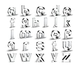 WJSYSHOP 23 Pieces English Lowercase Letters Alphabet Cookie Cutters