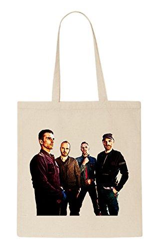 Coldplay Funny natürliche organische Tasche / natural organic Bag (Beige