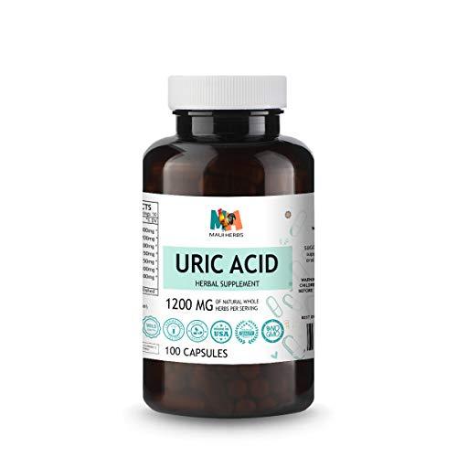 Uric Acid Capsules - Herbal Supplement Promoting Liver Cleanse, Antioxidant Support - Turmeric, Tart Cherry, Dandelion, Milk Thistle, Celery, Hydrangea - Non-GMO, Vegan - 1200mg, 100 Caps