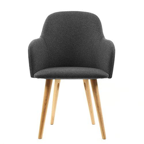 ALTASSINA Soft Chaise Style SCANDINAVE Confort (Gris Fonce)