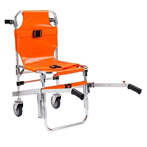 GFYWZ Light EMS Treppenstuhl Orange Rollstuhl Krankenwagen Feuerwehrmann Evakuierung Aluminium Light Medical Lift Treppenstuhl