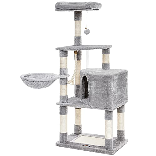 FEANDREA Cat Tree with Scratching Board, Basket Lounger and Large Cave UPCT60H