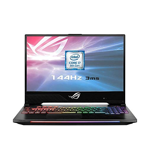 ASUS ROG GL504GS-ES111T 15.6 Inch 144 Hz 3 ms Gaming Laptop - (Black) (Intel i7-8750H, 16 GB RAM, 512 GB SSD PCI-e, NVIDIA GTX 1070 8 GB GDDR5 Graphics, Windows 10) (Refurbished)