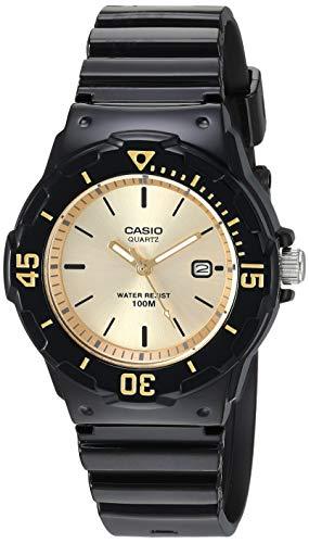 Casio Women's Classic Stainless Steel Quartz Watch with Resin Strap, Blue, 10.6 (Model: LRW-200H-9EVCF)