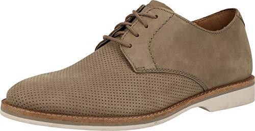 Clarks Atticus Lace, Zapatos de Cordones Derby Hombre, Beige (Sage Nubuck Sage Nubuck), 40 EU