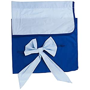 Baby Doll Bedding Reversible Round Crib Curtains, Light Blue/Royal Blue