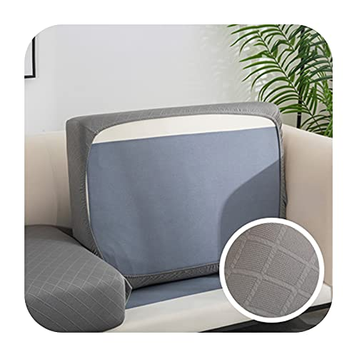 Funda de cojín de sofá gruesa Jacquard para sofá esquinero Funiture protector de asiento funda elástica color sólido funda de sofá 11-XXXXL