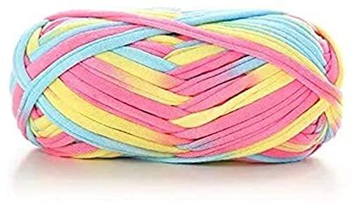 Filato grosso Thread colorato Think Thread Segmento Tinto Tinto Tappeto Bianco Tappeto Tappeto Borsa da stoccaggio Sciarpa Cappello Maglione Semplice caldo XB003 (33) . Filato per uncinetto