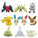 10 Unids / Set Pokemon T-Arts Gashapon Elf Ball Pikachu Regidrago Regieleki Eevee Kubfu Hatenna Gulp...