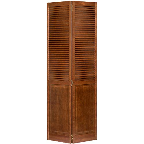 Kimberly Bay Traditional Louver Panel Espresso Solid Core Wood Bi-fold Door (80x36)