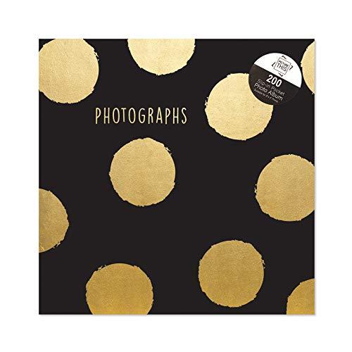 Tallon Gold Foil Polka Dots 6x4 Photo Album Memo Slip in Holds 200 Photos