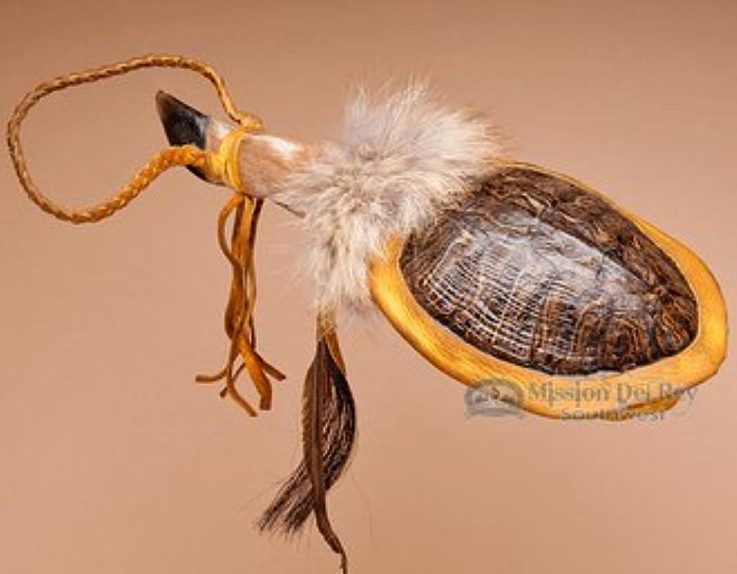 Native American Turtle Shell Deer Foot Rattle 12
