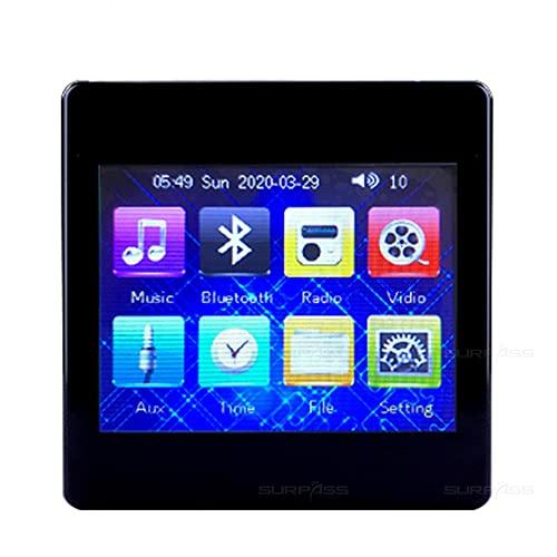 Liberación Mini amplificador Bluetooth en la pared, amplificador digital de audio para el hogar inteligente, pantalla táctil de música, sistema de sonido estéreo de alta fidelidad de 4 * 25 w con radi