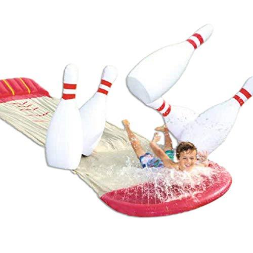 YJYQ Juguete De Tabla De Surf Inflable De Doble Tobogán Acuático Splash N Slide Wave Rider para Niños Verano