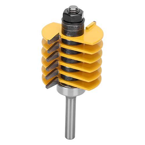 Herramienta eléctrica Enrutador de articulación de dedo ajustable Bit de unión de pegamento para juntas Enrutador de carpintería Fresa reversible para procesamiento de corte de madera