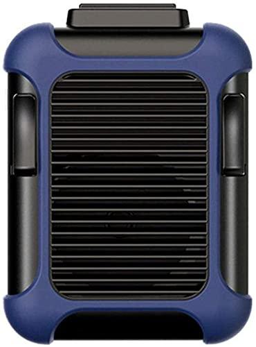 DTWC Ventilador USB Handheld Caugh Cintura Ventilador portátil con 4000mAh Batería Recargable Operada para Viajar Oficina de Deportes Lectura Verde-Azul