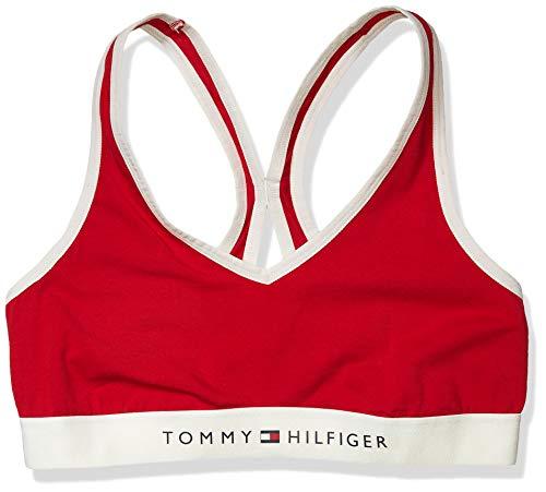Tommy Hilfiger Regular Women's Cotton Lounge Bralette Bra, Tango Red, XL
