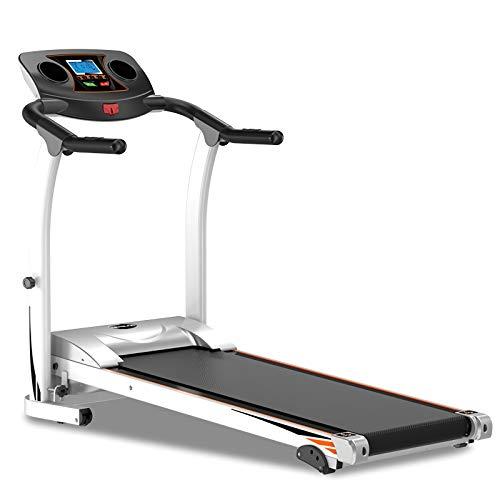 Zzxxo Cinta de Correr Marco de Acero Plegable Cintas de Correr 1.5HP, inclinación Ajustable Ejercicio físico Cardio Jogging con Sistema de Emergencia Agarre Manual Sensor de Pulso Soporte para,Negro