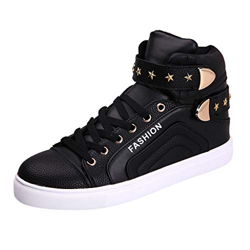 Best Bargain Men's Casual High-top Board Shoes Short Leather Boots Sport Sneakers Autumn Winter Outd...