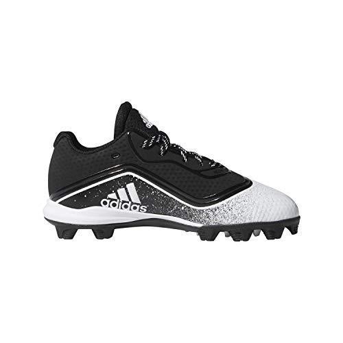 Adidas Youth Icon V Md Cleat Baseball Shoes Black/White 5