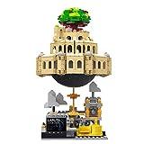 kyman Sky City Set Music Box Block Block Educación Ladrillo Castillo Construcción Conjunto Regalo ensamblado Bloque de construcción Juguete (Size : 1179PCS)