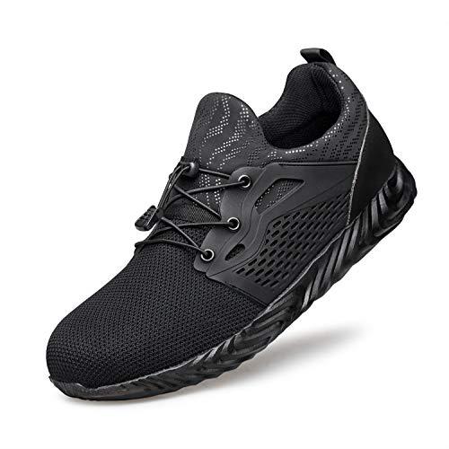 Hongchengye Steel Toe Shoes Men Women Indestructible Work Safety Toe Shoes...