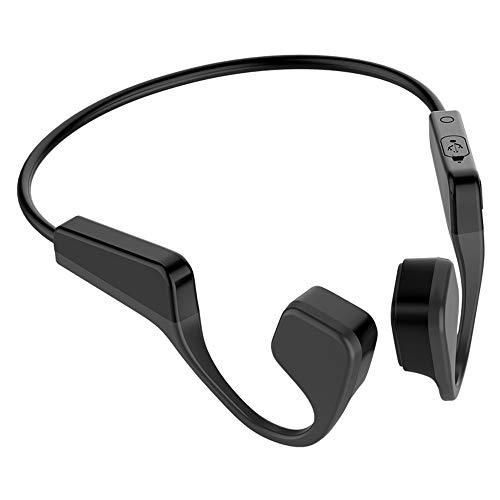 XIANGHUI Auriculares Deportivos Inalambricos con Bluetooth 5.0, Tecnología de Conduccion Osea, Diseño Open-Ear, Resistente al Polvo y al Agua IP5 para Correr, Ciclismo